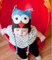 chapéu da criança do crochet da coruja venda por atacado-Lã inverno CORUJA Crianças Manual Cap Crochet Adorável Bebê Beanie Handmade Cap Crianças Infantil Knit OWL Chapéus Atacado 2017 Nova Moda nt