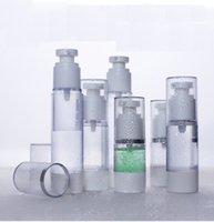 ingrosso bottiglie di pompa del siero-15ml 30ml 50ml Crema Flacone Airless Trasparente AS Lozione di plastica Sub-imbottigliamento con pompa a vuoto Bottiglia di siero Campione Bottiglia di separazione