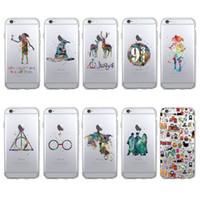 iphone harry potter achat en gros de-Pour iPhone X 8 7 6 6S plus 5S XS Max XR Coque Samsung Galaxy S7 Edge S8 S9 Plus Note 8 Coque TPU Souple Harry Potter Coque Iphone