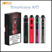 Wholesale black box e cig resale online - Newest Original JOMOTECH Smartvape AIO W ml tank Vape Pen Built in mAh Box Mod e cig