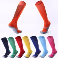 Wholesale wearable art - 18 Styles Adult Non-Slip Stripes Football Socks Thicken Towel Bottom Socks Stockings Sweat-Absorbent Wearable Sports Socks Custom LOGO G483Q