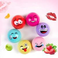 protetor de bolas venda por atacado-Bola redonda Lip Balm Lip Makeup Doce Cor Hidratante Nutrição Batom Lip Care Protector 6 Cores