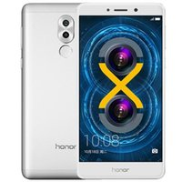 ingrosso inch huawei onore-Telefono cellulare originale Huawei Honor 6X Play 4G LTE Kirin 655 Octa Core 3GB RAM 32GB ROM Android 5.5 pollici 12MP ID impronta digitale Smart Phone
