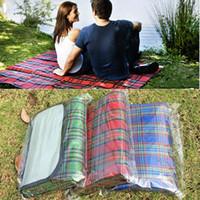 Wholesale Folding Outdoor Cushion - Multifunction Cushion Outdoor Beach Picnic Folding Camping Mat Moisture Proof Waterproof Sleeping Cushion Plaid Blanket WX9-331