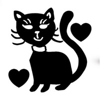 Wholesale Pussy Body - HotMeiNi Wholesale 20pcs lot Cat Heart Lover Pussy Cute Funny Car Sticker For Truck Window Bumper Door Vinyl Decal