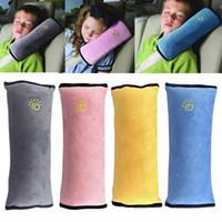 almohada atada al por mayor-Cubierta universal del coche del bebé Almohada para niños Cinturones de seguridad para niños Correa Arnés Asientos de protección Cojín C4050