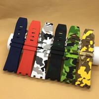 ingrosso gomma siliconica impermeabile-Cinturino in silicone impermeabile in silicone con cinturino in caucciù con fibbia in acciaio inossidabile adatta per orologio AP