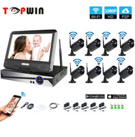 Wholesale security cameras nvr for sale - Wifi Surveillance System Network quot LCD Monitor NVR Recorder Wifi Kit CH P HD Video Inputs MP Security Camera