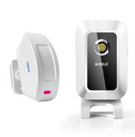 alarmas infrarrojas al por mayor-Dispositivo de bienvenida Tienda Tienda Inicio Bienvenido Carillón Inalámbrico IR Sensor de movimiento Campana de puerta Alarma Entrada Timbre Alcance 150m