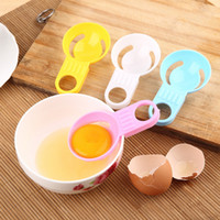 Wholesale plastic separators shipping resale online - Hot Creative color short handle kitchen small tool egg processing transparent egg white separator