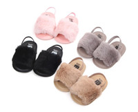 Wholesale 2018 New Fashion Faux Fur Baby Summer Shoes Cute Infant Baby Sandals Slippers
