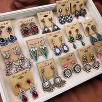 Mix Dangle earrings Palace Long Tassel Paper quilling Ram leela Retro Flower Gold Silver Big Earring Bohemian Nightclub Jewelry