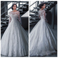 Wholesale ladies long dresses sale - Cheap Sale 2018 Long Sleeves Spring Wedding Dresses Lace Appliques Bridal Gowns Custom Online Vestidos De Mariage Ladies Garden Vestidos