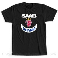 arabalar için rozetleri toptan satış-Saab Scania Araba Kamyon Logo Amblemi Rozeti Yeni T-Shirt