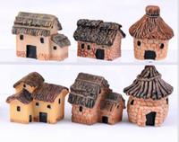 Wholesale fairy garden decor - cute resin crafts house fairy garden miniatures gnome micro landscape decor bonsai for home decor DDA519