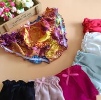 Wholesale Soft Silk Panties - Woman Ruffle Silk Panties XXL Plus Size Ladies Mulberry Silk Satin Briefs Soft & Comfortable Low Waist Sexy Underwear