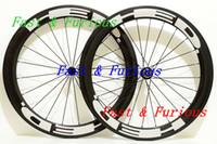 rueda tubular de china al por mayor-Venta al por mayor Las mejores ruedas de bicicleta de carretera que compiten con HED 38 MM Forma de U Ruedas de fibra de carbono llenas Clincher / Bicicleta de carretera tubular Ruedas de carbono chinas