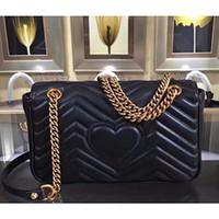 goldene tote großhandel-Mode Marmont Taschen Umhängetasche Frauen Handtasche Tasche Schultertasche Lady Classic Golden Chains Totes Handtaschen Taschen