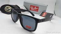 Wholesale Green Ray - Fashion Rays Sunglasses Men Women Sun Glasses Brand Designer Justin Mirror Gafas de sol Bans Designer Male Eyewear with cases online
