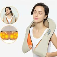 ingrosso massaggiatore a infrarossi corpo cellulite-Casa e auto Dual-Use Riscaldamento a infrarossi Body Massager Attrezzature per la cura della salute U forma di agopuntura Impastare Collo Spalla Massaggio di cellulite