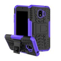 estuche rígido híbrido resistente al por mayor-Hybrid Kickstand Impact Rugged Funda para Samsung Galaxy J2 Pro 2018 J3 J4 J6 J7 Duo Note 8 9 carcasa rígida a prueba de golpes