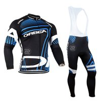 Wholesale orbea bike cycling long online - ORBEA cycling jersey pro team Cycling Clothing Quick Dry MTB bike bib pants set D gel pad tour de france long sleeve ropa ciclismo