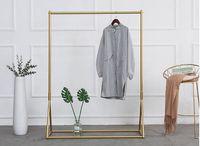 Golden clothing rack Iron floor hanger Bedroom Furniture children's cloth shop display racks women's bag show shelf