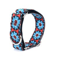 Wholesale wide dog collars for sale - Group buy Nylon New Fabric Super Strong Durable Reef Martingale Dog Collars Pet Greyhounds Dog Collar cm Wide Necklaces