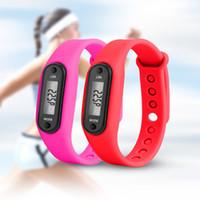 ingrosso scala graduata-2018 Sport Smart orologio da polso Braccialetto Display Fitness Gauge Step Tracker LCD digitale Pedometro Run Step Walking Calorie Counter
