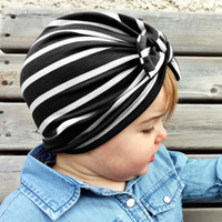 Wholesale hair extensions india resale online - 7 colors Baby Hats Bunny Ear Caps Turban Knot Head Wraps Infant Kids India Hats Ears Cover Childen hat