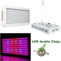 Wholesale Hydroponics Grow Systems - 2018 Double Chip 1000W Full Spectrum Grow Light Kits 600W Led Grow Lights Flowering Plant and Hydroponics System Led Plant Lamps AC 85-265V