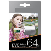 Wholesale Retail Packaging Products - 64GB EVO Select Micro SD TF Card in Retail Package 2018 New Arrival Best Selling Products for Smart Phones