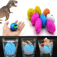 Wholesale kid water toys online - 2 cm Magic Water Growing Egg Hatching Colorful Dinosaur Add Cracks Grow Eggs Cute Children Kids Toy Novelty Items CCA10541