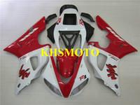 99 yamaha r1 verkleidungen großhandel-Custom Injection Mold Verkleidungsset für YAMAHA YZFR1 98 99 YZF R1 1998 1999 YZF1000 ABS weiß rot Verkleidungssatz + Geschenke YS19