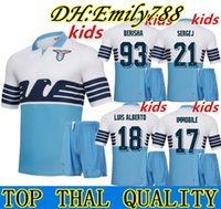 d1353f23096 kids kit 2019 Lazio Home Blue Soccer Jersey 18 19 Lazio Soccer Shirts 17  IMMOBILE 21 SERGEJ 19 LULIC 10 LUIS ALBERTO Football Shirt On Sales