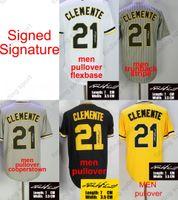 Discount miller sign - Signed Signature 2018 Men Roberto Clemente baseball Jersey Pittsburgh Jerseys Grey Pinstripe Flexbase Cool Base Home Away Women Youth kid