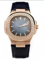 механические кожаные прозрачные часы оптовых-Классическая мода серии дата Азия механический дайвер прозрачный механический tonneau автоматический Алмаз мужские часы Кожаный ремешок мужские наручные часы