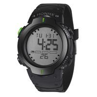 montres lcd de luxe achat en gros de-Les hommes regardent les montres de sport de mode de mouvement de mouvement Les hommes montre de sport LCD chronomètre numérique Date poignet de sport en caoutchouc