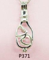 perla entrega gratuita al por mayor-2018-P371 # entrega gratuita Lady Party Jewelry Sets Pearl jaula colgante / collar / pulseras (envío gratuito de ostras de perlas)