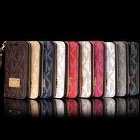 ingrosso caso della borsa di lusso di iphone-Caso di vibrazione del cuoio di lusso Caso ibrido TPU Caso della copertura posteriore per iphone7 iphone 8 7p 6s Casi della borsa della fessura per carta più