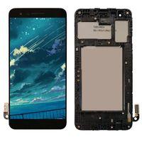 panel değiştirme toptan satış-Orijinal LG Aristo 2 SP200 MX210 Çerçeve Meclisi Ile Dokunmatik Ekran Digitizer LCD Ekran K8 2018 Ekran Değiştirme Toptan