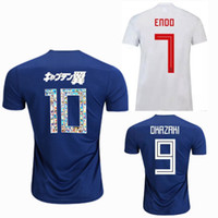 Wholesale soccer team numbers - cartoon number Japan 2018 2019 Soccer Jersey 18 19 ATOM HONDA HASEBE KAGAWA OKAZAKI national team home away Thai quality football shirt