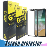 Wholesale Iphone 3d Carbon Fiber - Soft Carbon Fiber Full Screen Tempered Glass 3D Covered Protector For iPhone X 8 7 6 6S Plus With Retail Package