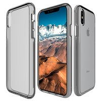 Wholesale bumper case cellphone - For samsung galaxy s9 plus A8 Transparent Hybrid Bumper Anti scratch Cover phone cases For iphone x Clear cellphone case
