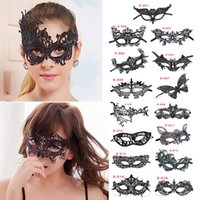 Wholesale Masquerade Queen Costume - Sexy Lace Party Masks Women Cosplay Costume Masquerade Dancing Valentine Half Face Mask queen Mask 15 design T1I208