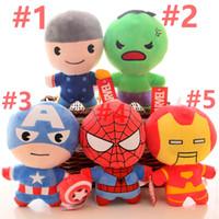 örümcek adam peluş oyuncak bebek toptan satış-S versiyonu Avengers Doll Avengers Ligi Legends Birliği Kaptan Amerika Örümcek-Adam Peluş Oyuncaklar V 001