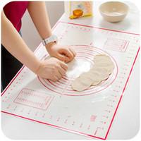 Wholesale wholesale bakeware supplies - 2PCS set Silicone Baking Mat Pizza Dough Maker Pastry Kitchen Gadgets Cooking Tools Utensils Bakeware Accessories Supplies Lot