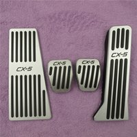 Wholesale Gas Brakes Clutch Pedals - Car Accessories Accelerator Gas Fuel Brake Clutch Footrest Pedal Pads Stickers for Mazda CX-5 Non-Drilling Pedals Pad Covers (Size: 4pcs)