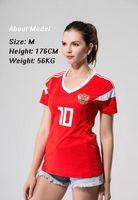 Wholesale russian women sale - Russia women home Soccer Jersey 18 world cup women Russian female soccer shirt 2018 #10 DZAGOEV #11 SMOLOV girl Football uniforms sales