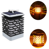 Wholesale house street solar light for sale - Group buy Atmosphere Solar candle lights flame Lantern Fire dancing llights decoration your life for yard housing garden road and plaza lights